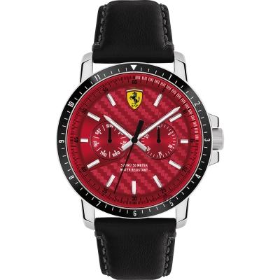 Scuderia Ferrari 法拉利 TURBO日曆手錶-紅x黑/42mm