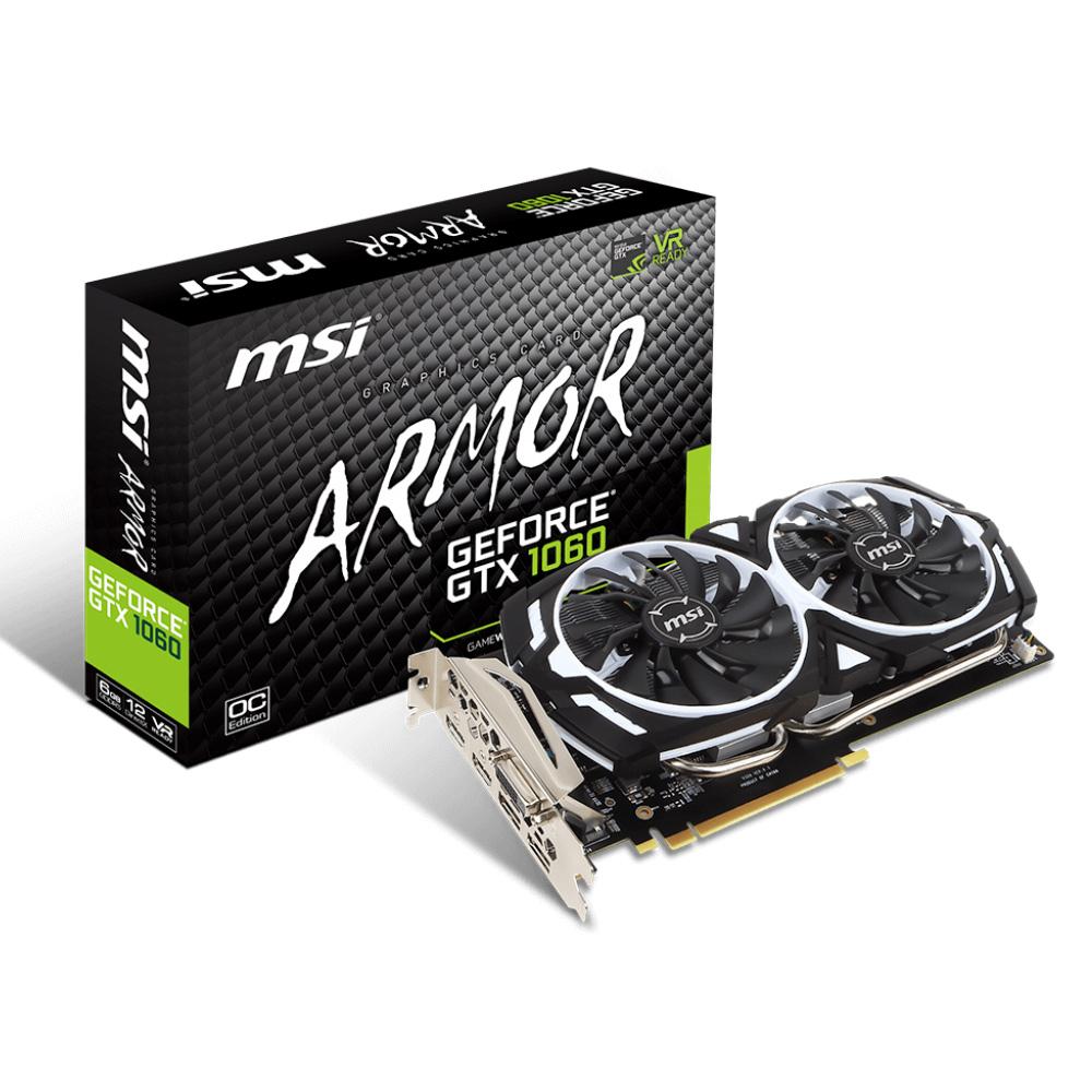 微星顯示卡GeForce GTX 1060 ARMOR 6G OCV1