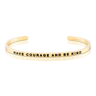 MANTRABAND 手環 Have courage and be kind 金色