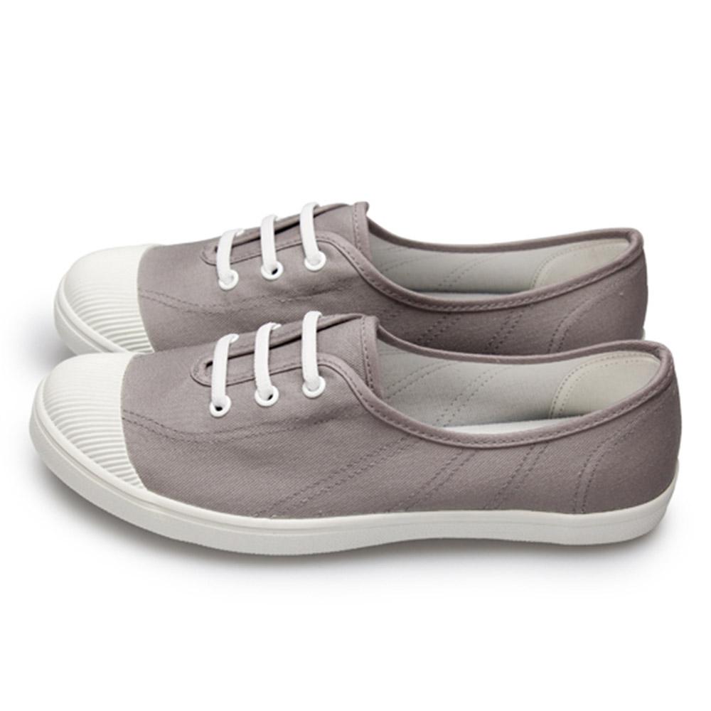 FUFA  MIT 仿鞋帶造型休閒鞋 (A42)-灰色
