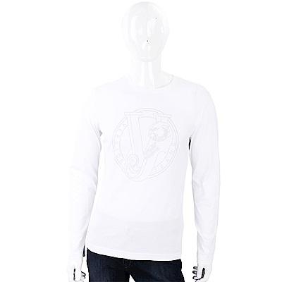 VERSACE 金屬珠貼飾白色棉質T恤