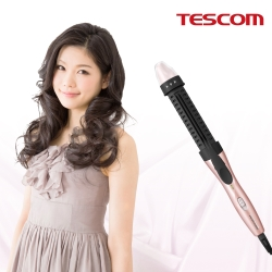 TESCOM 可縮式髮梳捲髮器 PH132TW (霓虹粉)