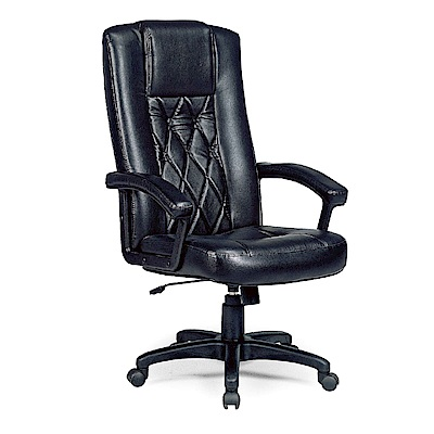 GD綠設家 羅多莎皮革高背辦公椅-64x52x120cm免組