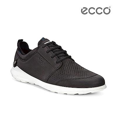 ECCO TRANSIT 時尚潮流襪套式休閒鞋-黑