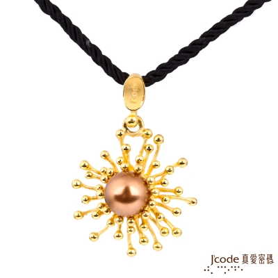 J code真愛密碼金飾 珍情光芒黃金墜子-香檳色 送項鍊