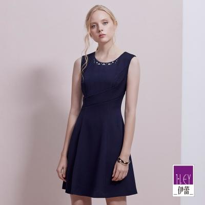 ILEY伊蕾 都會簡約質感收腰洋裝(藍)