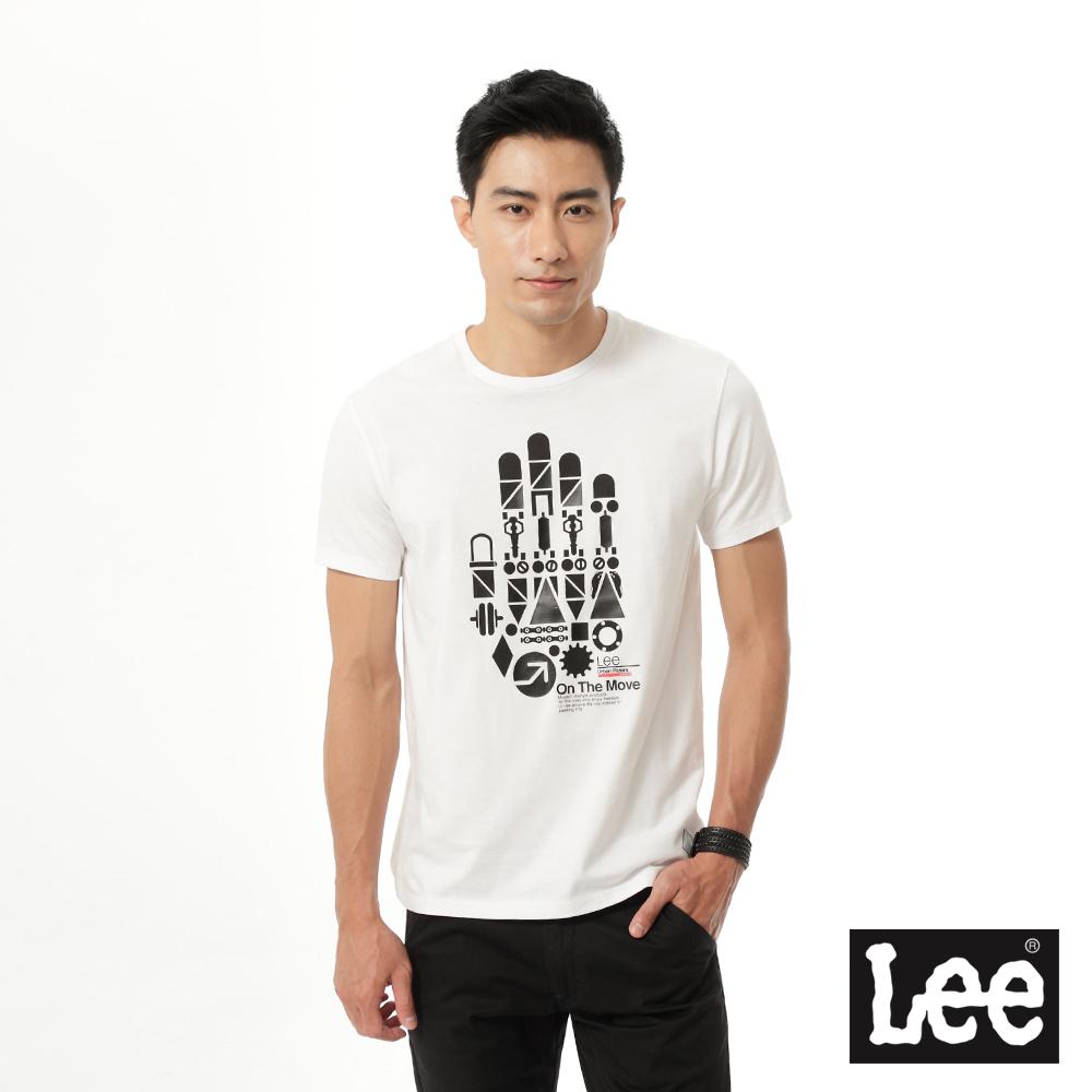 Lee 印花短袖T恤/UR-男款-白