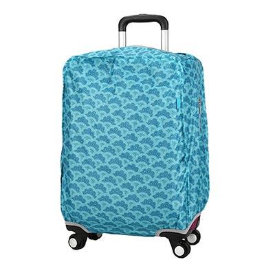 CARANY卡拉羊 加厚材質炫彩旅行箱專用箱套(扇之舞藍色/24吋)58-0037B-D3