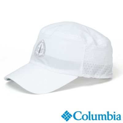 【Columbia哥倫比亞】男女-韓版遮陽軍帽-白色 UYU06830WT