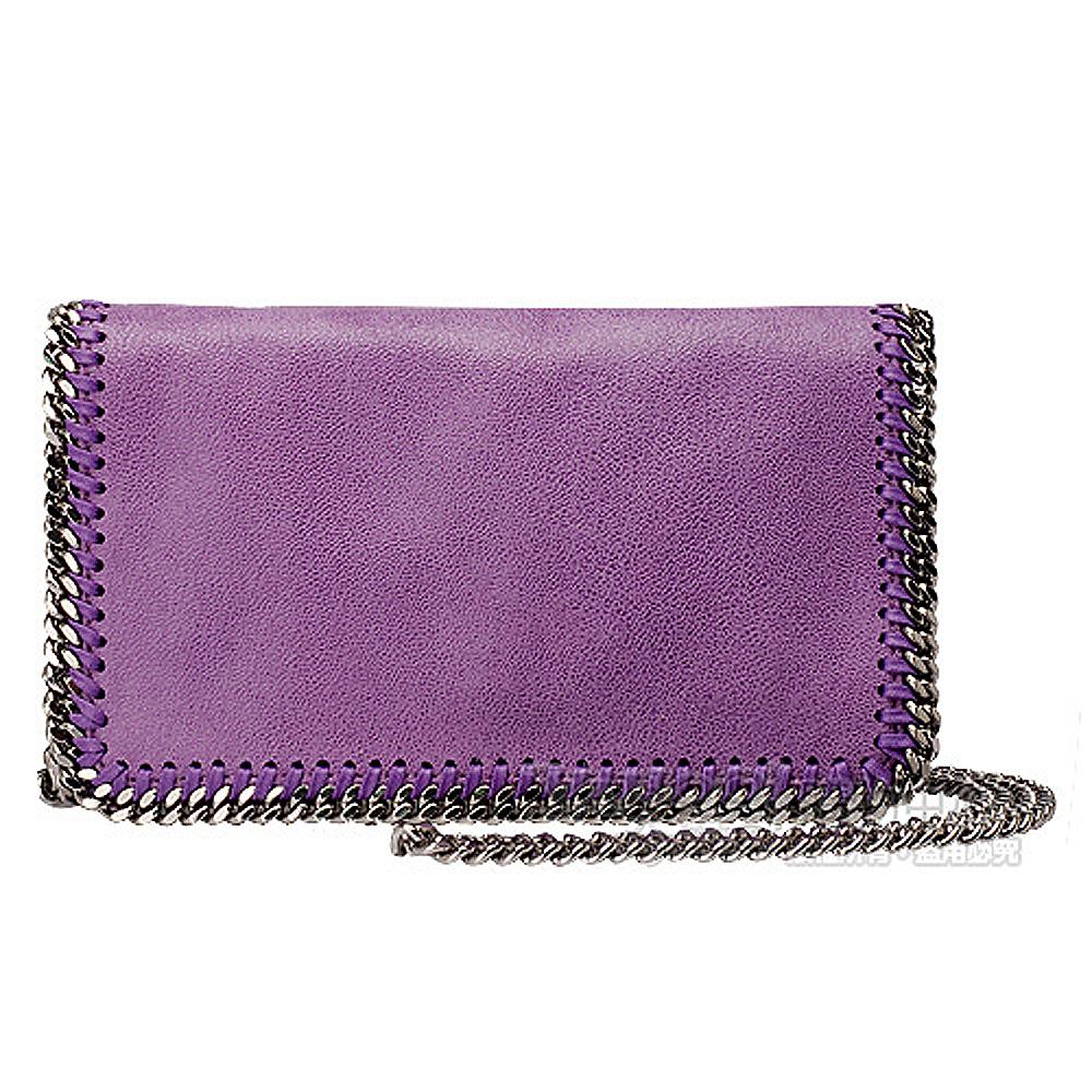Stella McCartney Fold Over系列粗鏈帶肩背/斜肩包(紫)