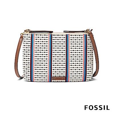 FOSSIL DEVON 經典鑰匙圖騰線條小方包