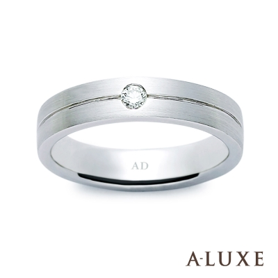 A-LUXE 亞立詩 The Brilliant 結婚戒 18K白金男戒