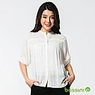 bossini女裝-七分袖繡花襯衫01灰白