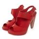 MELISSA 時尚結構高跟鞋-紅