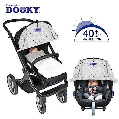 荷蘭dooky-抗UV萬用推車遮陽罩-淡灰皇冠