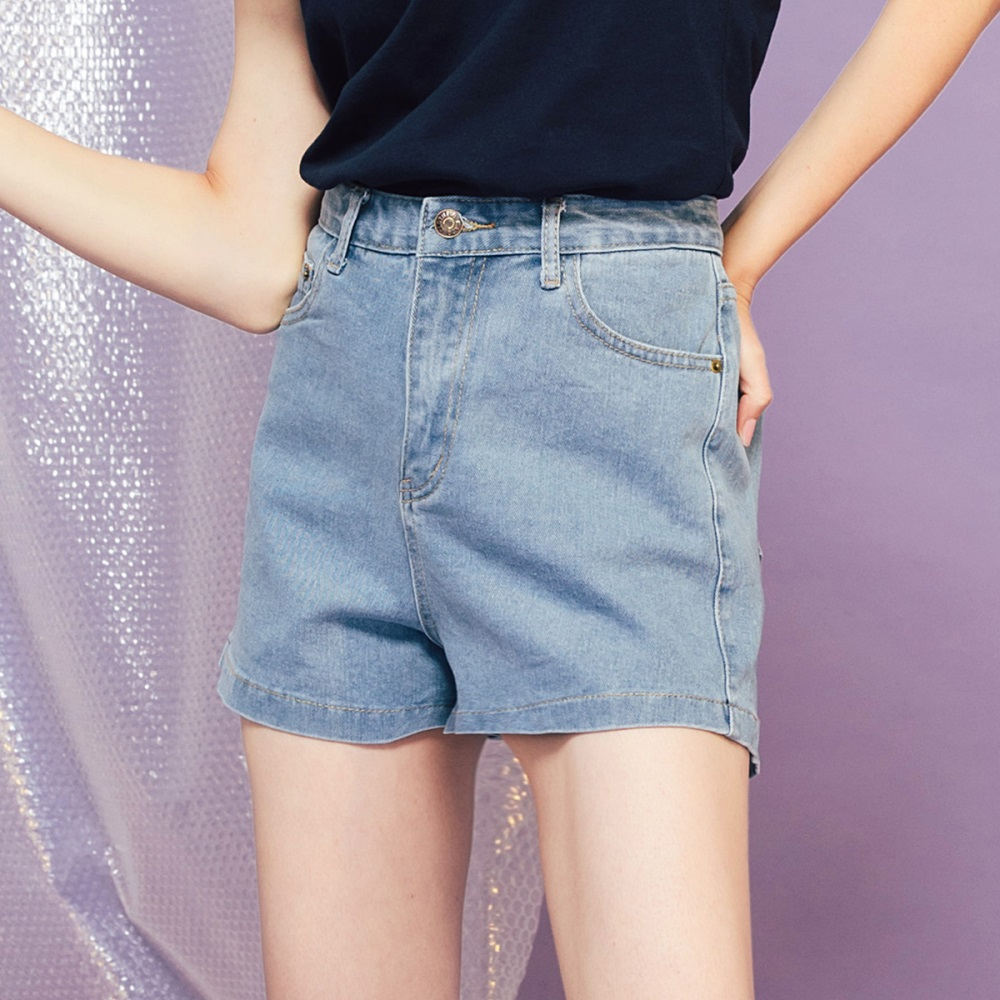 Shester55-高腰修身牛仔短褲-女【PSH229】