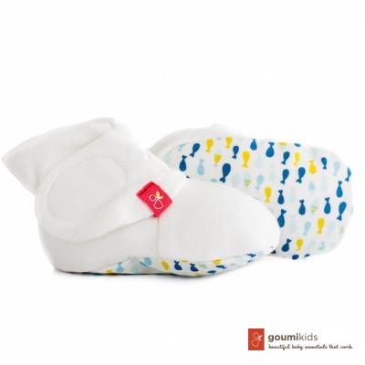 美國 GOUMIKIDS 有機棉嬰兒腳套 (小魚群-萌漾)