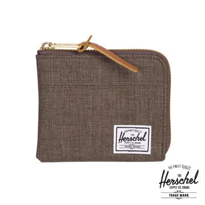 Herschel New Johnny 零錢包-棕色十字織布