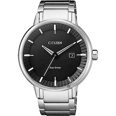 CITIZEN星辰 光動能競技場手錶((BM7370-89E))-黑x銀/40mm