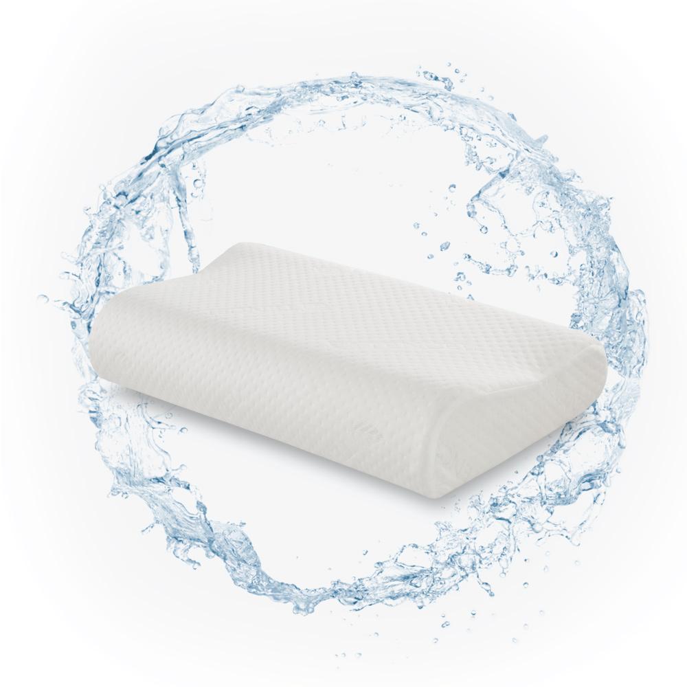 幸福角落 親水性模塑天絲舒柔記憶枕-小工學型