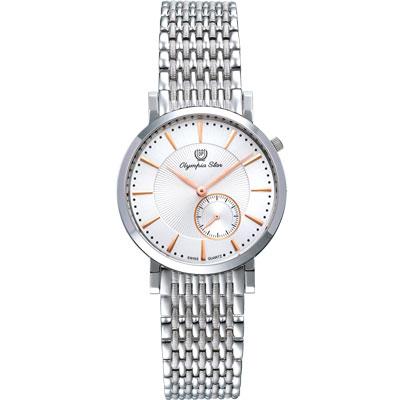 Olympia Star 奧林比亞之星 經典都會系列英倫休閒時尚腕錶-36mm