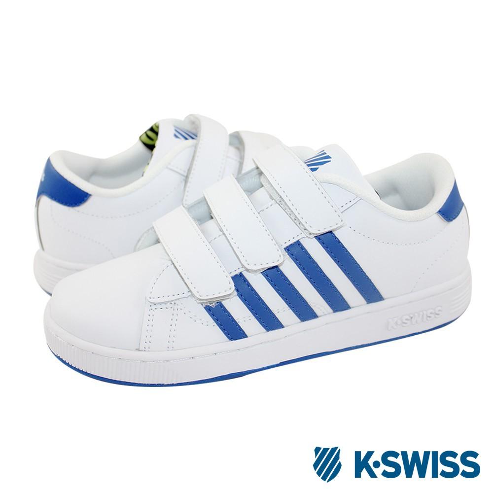 K-Swiss Hoke TT 3-Strap經典休閒鞋-童-白/藍