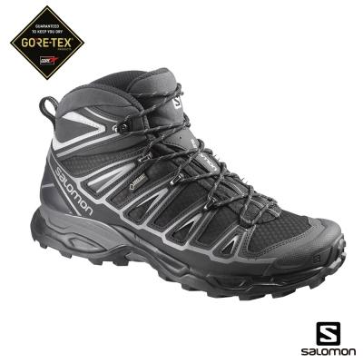 Salomon 登山鞋 中筒 GORETEX 防水 男 X ULTRA 2 黑