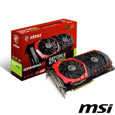 MSI微星 GeForce GTX 1060 GAMING X 6G顯示卡