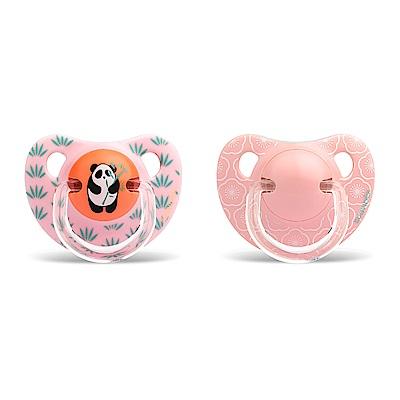 奇哥 suavinex 標準拇指型安撫奶嘴2入組+6M-粉熊貓