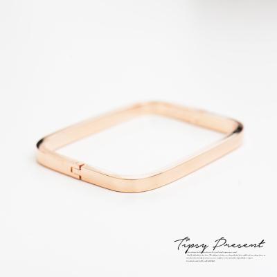 微醺禮物 手環 時尚 方框 鍍K金 手鍊 手鐲