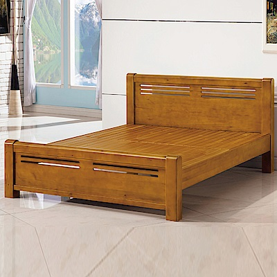 AS-伊諾克6尺全實木床台-185x206.5x89cm