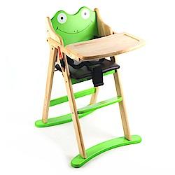 青蛙造型折合木頭餐椅