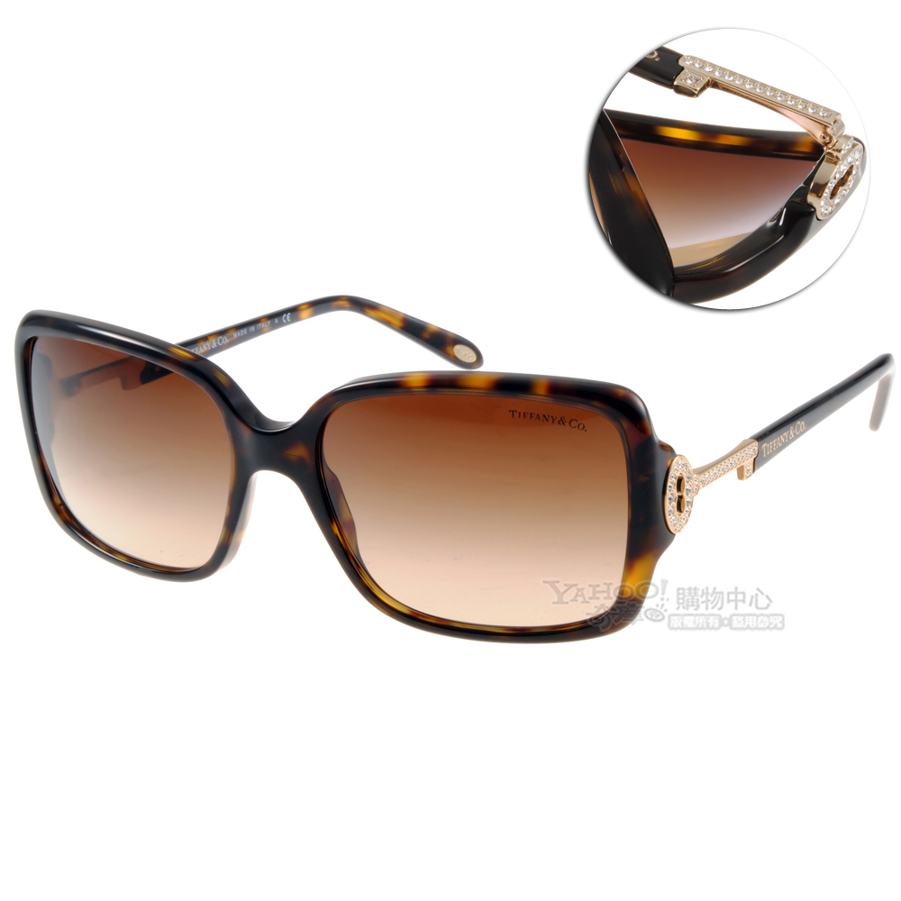 Tiffany&CO.太陽眼鏡 水鑽鑰匙/琥珀色#TF4043B 80153B