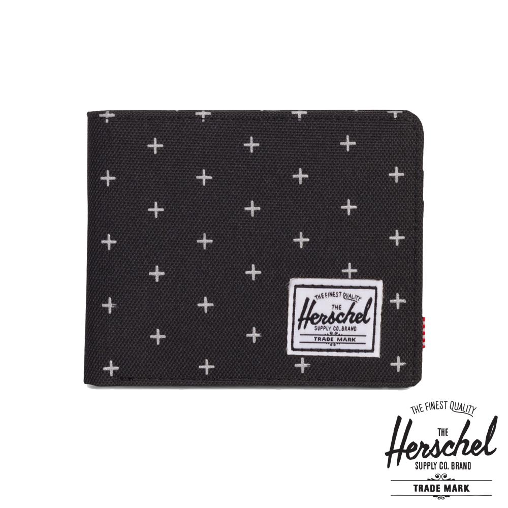 Herschel Roy 短夾-黑色十字紋路