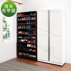 BuyJM低甲醛透氣鏡面加深四門鞋櫃/寬89×深38x高180cm-DIY