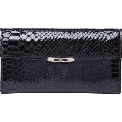 TONY PEROTTI 義大利蟒蛇紋牛皮 長夾 #2966Z ( 黑色 )