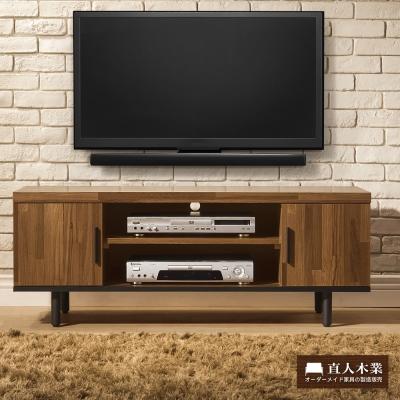 日本直人木業傢俱-工業生活120CM電視櫃-(120x40x46cm)免組