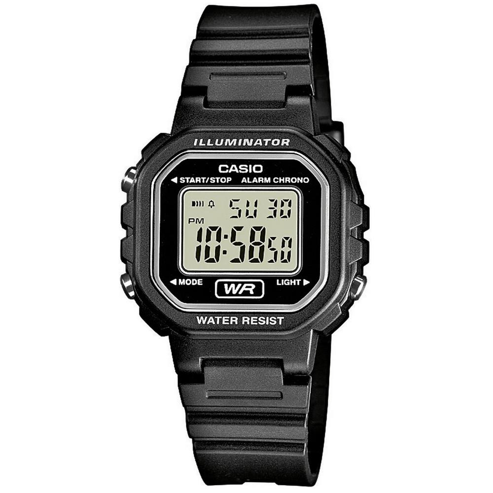 CASIO 黑色炫風方形電子錶(LA-20WH-1A)-30.4mm