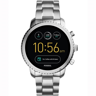 Fossil Q Explorist 系列觸控智能手錶-黑x銀/ 44 mm