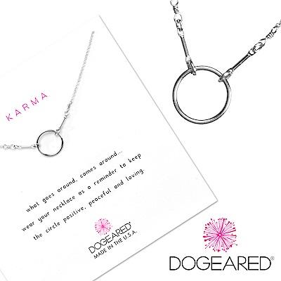 Dogeared 許願銀項鍊 經典圓滿優雅銀圈 Karma Necklace 附原廠禮盒