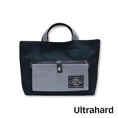 Ultrahard Masterpiece Map雙層口袋兩用小托特-黑灰
