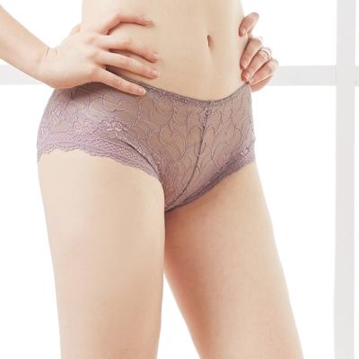 可蘭霓Clany  沉著暮色蕾絲M-XL內褲 高貴紫
