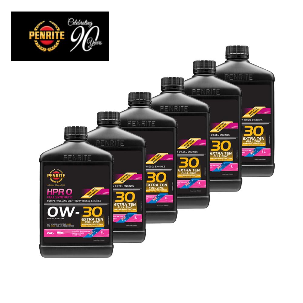 PENRITE 澳洲HPR OIL高性能加護版0W-30汽柴油/油電車用機油 1L-6瓶裝