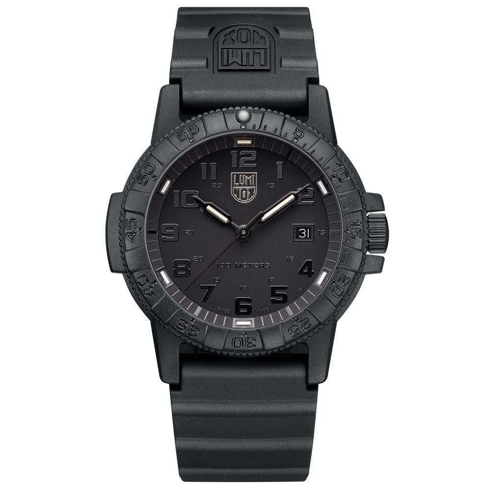 LUMINOX 雷明時SEA TURTLE 0320海龜系列腕錶-黑x黑時標/44mm