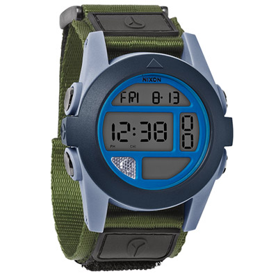 NIXON The BAJA 核心啟程多功能概念運動錶-灰x藍綠/47mm