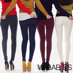 【W BABIES】秋感大地色顯瘦煙管褲 (共十色)