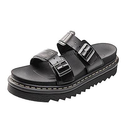 (男) Dr.Martens MYLES 兩條扣環休閒拖鞋*黑色