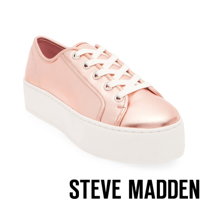 STEVE MADDEN-FOXIE-ROSE GOLD-厚底綁帶鞋-玫瑰金