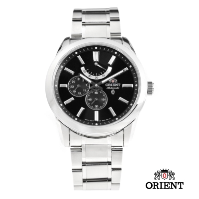 ORIENT 東方錶 POWER RESERVE系列 藍寶石機械錶-黑色/42mm