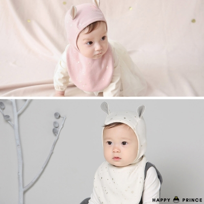韓國 Happy Prince 燙金星星嬰兒圍兜